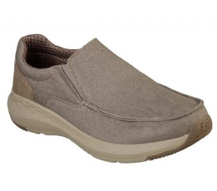 Mens Skechers 66004 KHK Khaki Relaxed Fit Parson Trest Slip-On Trainers